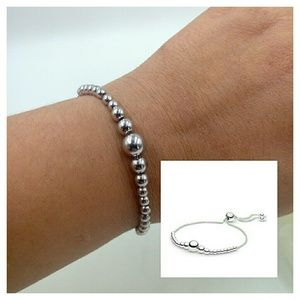 c8037b230 Pandora Jewelry | Auth Silver String Of Beads 98 Bracelet | Poshmark